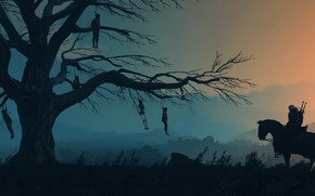 Wallpaper tree, The Witcher, Geralt, The Witcher 3: Wild Hunt