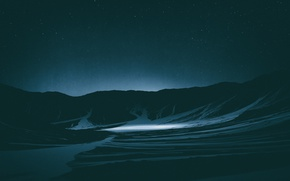Wallpaper Mountains, Stars, Space, space, stars, Lighting, Cinema4d