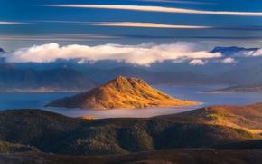 Picture the sky, clouds, island, Australia, Tasmania
