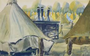 Picture 1918, South Carolina, Charles Ephraim Burchfield, Camp Jackson