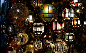 Picture lamp, lamps, Morocco