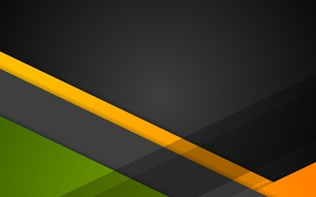 Wallpaper line, green, geometry, black, design, orange, color, material