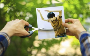 Picture creative, photoshop, guy, the idea, green, photoshoop, poshpan