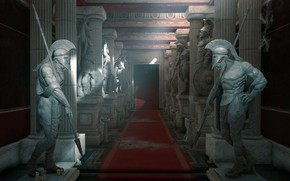 Picture Palace, statues, Assassin's Creed Origins, The Hidden Ones