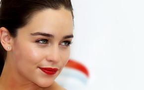 Picture look, face, actress, lipstick, brunette, lips, Emilia Clarke, Emilia Clarke