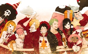 Picture anime, art, friends, One Piece, personage