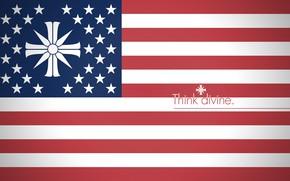 Picture red, game, Far Cry, star, blue, stripes, cross, stars, faith, flag, cult, religion, motto, Far …