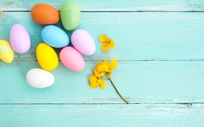 Wallpaper flowers, eggs, spring, colorful, Easter, wood, pink, flowers, spring, Easter, eggs, decoration, Happy, tender