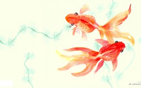 Picture figure, fish, art, goldfish