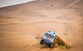 Picture The sky, Sand, Nature, Sport, Speed, Truck, Race, Master, Skid, Beauty, Russia, Beast, Kamaz, Rally, …