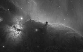 Wallpaper space, stars, nebula, astrophoto