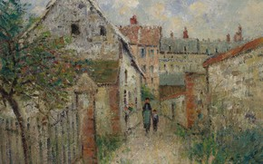 Picture home, picture, the urban landscape, Gustave Loiseau, Gustave Loiseau, village street. Louviers