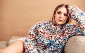 Picture girl, actress, beauty, beauty, sweater, actress, Elizabeth Olsen, elizabeth olsen