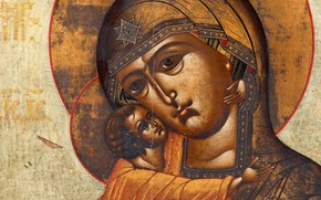 Picture religious painting, XIXв, Theodore, The Icon Of The Mother Of God