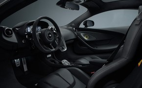 Picture McLaren, the wheel, supercar, salon, 2018, MSO, 570GT, Black Collection