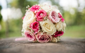 Picture roses, the bride, wedding, bride, Wedding, wedding bouquets, bridal bouquets