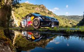 Picture reflection, Volkswagen, WRC, Rally, Polo