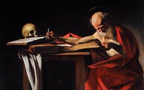 Picture picture, Caravaggio, mythology, Saint Jerome, Michelangelo Merisi da Caravaggio