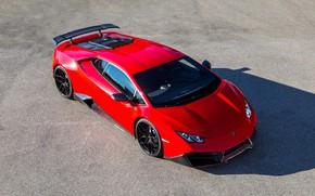 Picture auto, red, Lamborghini, Novitec, Torado, Huracan, LP 580-2