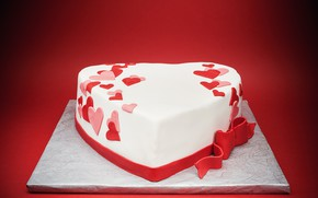 Picture heart, cake, sweet, delicious, Valentine's Day