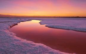 Wallpaper sunset, river, nature