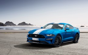 Wallpaper Ford, 2019, coast, Performance Pack, Mustang, EcoBoost