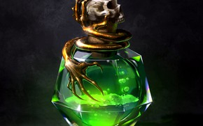 Picture sake, fantasy, liquid, digital art, artwork, fantasy art, Poison, bottle, potions