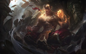 Picture game, fighter, man, asian, martial artist, chinese, oriental, asiatic, powerful, strong, League Of Legends, muscular, …