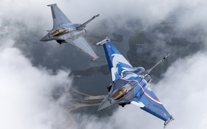 Picture multi-role fighter, French, Rafale, Rafal