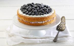 Picture berries, cake, cream