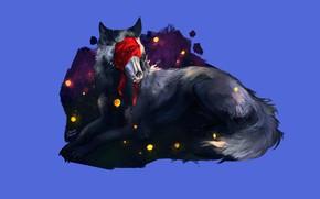 Picture background, wolf, wool, headband, beast
