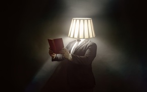 Picture people, lamp, book