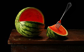Picture watermelon, the flesh, plug