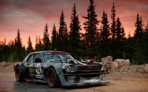 Picture Mustang, Ford, 1965, Ken Block, Hoonicorn, 1400HP, Larry Chen