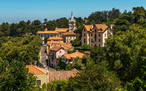 Picture greens, the sun, trees, home, Portugal, Lisbon, Sintra