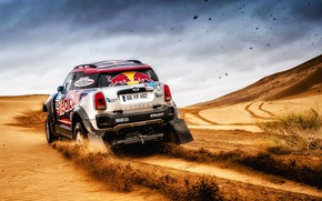 Picture Sand, Mini, Sport, Desert, Speed, Race, Rally, SUV, Rally, 105, X-Raid Team, MINI Cooper, Silk …