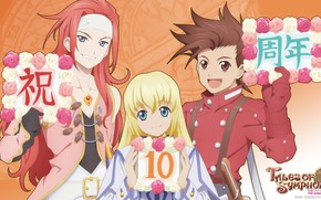 Picture girl, anime, guys, Tales Of Symphonia