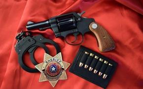 Wallpaper handcuffs, icon, Detective Special 3, colt, 1970