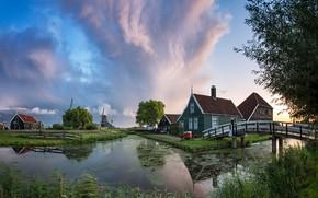 Wallpaper Holland, Netherlands, Zaanstad, Zaanse Schans