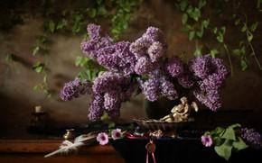 Picture pen, figurine, lilac
