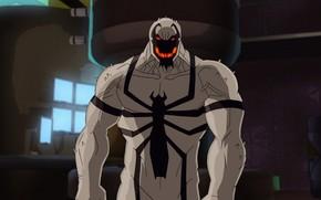 Picture spider-man, comics, cartoon, Marvel, animated film, Anti-Venom, Anti-Venom, symbiote, Ultimate Spider-Man, cartoon film