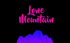 Picture mountains, pink, black, minimalism
