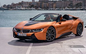 Picture Roadster, harbour, 2018, BMW i8
