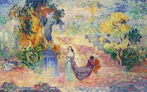 Picture picture, Henri Edmond Cross, genre, pointillism, Henri Cross, The lady in the Park