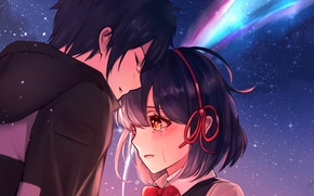 Picture romance, anime, art, two, Kimi no VA On, Your Name