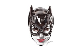 Picture fantasy, Batman, minimalism, blue eyes, comics, face, digital art, artwork, mask, superhero, fantasy art, DC …