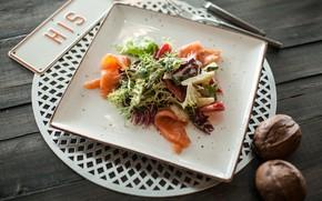 Picture Salad, fish, bread