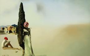 Wallpaper surrealism, picture, Salvador Dali, Salvador Dali, Necrophiliac Spring