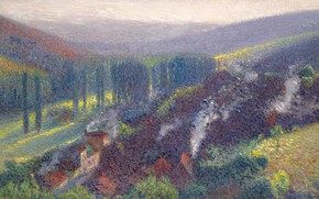 Picture landscape, picture, Henri-Jean Guillaume Martin, Henri Matrin, View of Labastide-du-Vert