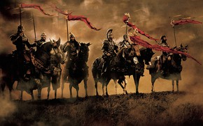 Wallpaper fight, war, King Arthur, armor, king, Arthur, horse